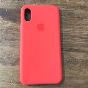iPhone XS coral Apple silicone case